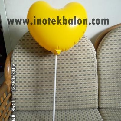 Balon Stick Promosi Bentuk Love