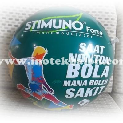 Balon Promosi Koin Diameter 38 Cm Logo Stimuno Full Colour