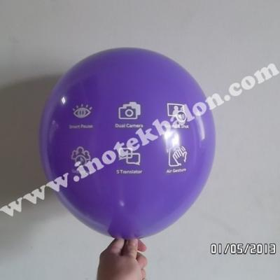 Balon Print 1 Warna Include Stick Cup